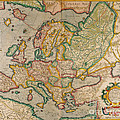 Mercators Map Of Europe by Photo Researchers