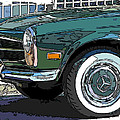 Mercedes Benz 280sl Roadster 2 by Samuel Sheats