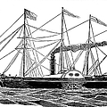 Merchant Steamship, 1838 by Granger