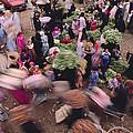 Merchants At Saqqaras Market Carry by Kenneth Garrett