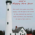 Merry Christmas Lighthouse by Michael Peychich