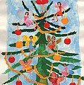 Merry Christmas Tree Fairies In Progress by Sushila Burgess