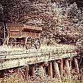 Metal Wagon On The Trestle by Sharlotte Hughes