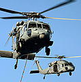Mh-60s Sea Hawk Helicopters In Flight by Stocktrek Images