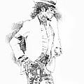 Michael Jackson Attitude by David Lloyd Glover
