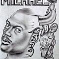 Michael Jordan Double Exposure by Rick Hill