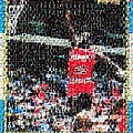 Michael Jordan Rookie Mosaic by Paul Van Scott