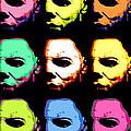 Michael Myers Mask Pop Art by Paul Van Scott