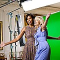 Michelle Obama And Jill Biden Joke by Everett