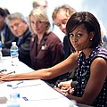 Michelle Obama Attends A Meeting by Everett