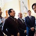 Michelle Obama Greets John Legend by Everett