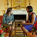 Michelle Obama Greets Mrs. Margarita by Everett
