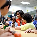 Michelle Obama Joins Students by Everett