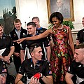 Michelle Obama Talks With Participants by Everett