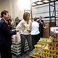 Michelle Obama Volunteers For Feeding by Everett