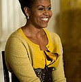 Michelle Obama Wearing A J. Crew by Everett