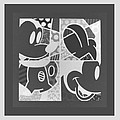 Mickey In Negative Black And White by Rob Hans