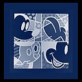 Mickey In Negative Deep  Blue by Rob Hans