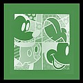 Mickey In Negative Olive Green by Rob Hans