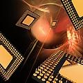 Microprocessor Chips, Artwork by Laguna Design