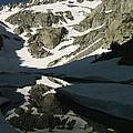 Middle Palisade Peak Reflects In Finger by Gordon Wiltsie