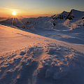 Midnight Sun Above Lilletinden by Arild Heitmann