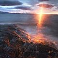 Midnight Sun Over Vågsfjorden by Arild Heitmann