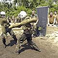 Midshipmen Battle With Pugil Sticks by Stocktrek Images