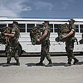 Midshipmen Carry Their Packs And Board by Stocktrek Images