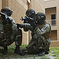 Midshipmen Take Cover During Urban by Stocktrek Images