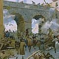 Milanese Chasing Out Austrians by Italian School