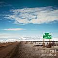 Milepost At The Dempster Highway by Priska Wettstein