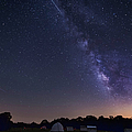 Milky Way And Perseid Meteor Shower by John Davis