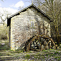 Mill And Water-wheel Near Ashford-in-the-water by Rod Johnson