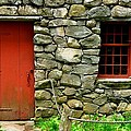 Mill Door And Window by Mark Valentine