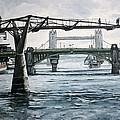 Millennium Bridge London by Victor SOTO