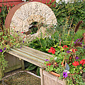 Milling Stone Flower Garden by Amelia Painter