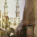 Minarets And Grand Entrance Of The Metwaleys At Cairo by Munir Alawi