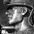 Miner Statue Monochrome by Steve Purnell