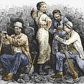 Miners And Their Wives, 19th Century by Sheila Terry