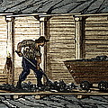 Miners In A Timbered Tunnel by Sheila Terry
