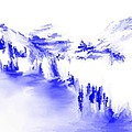 Minimal Landscape Monochrome In Blue 111511 by David Lane
