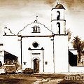 Mission San Luis Rey In Sepia by Kip DeVore