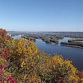 Mississippi River Fall by Bonfire Photography