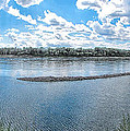 Mississippi River Panorama by C H Apperson