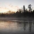 Mist Over The Mississippi by Kent Lorentzen