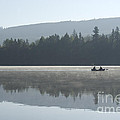 Misty Morning Fishing by Jim And Emily Bush
