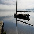 Misty Morning On Lake Bohinj by Ian Middleton