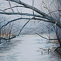 Misty Morning On The Red River by Patsy Sharpe