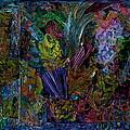 Mixed Media In Blues by Genie Morgan